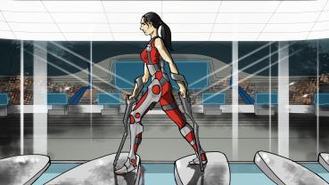 Cybathlon-Disziplin: Powered Exoskeleton Race