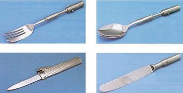Vier verschiedene Prothesenaufsätze